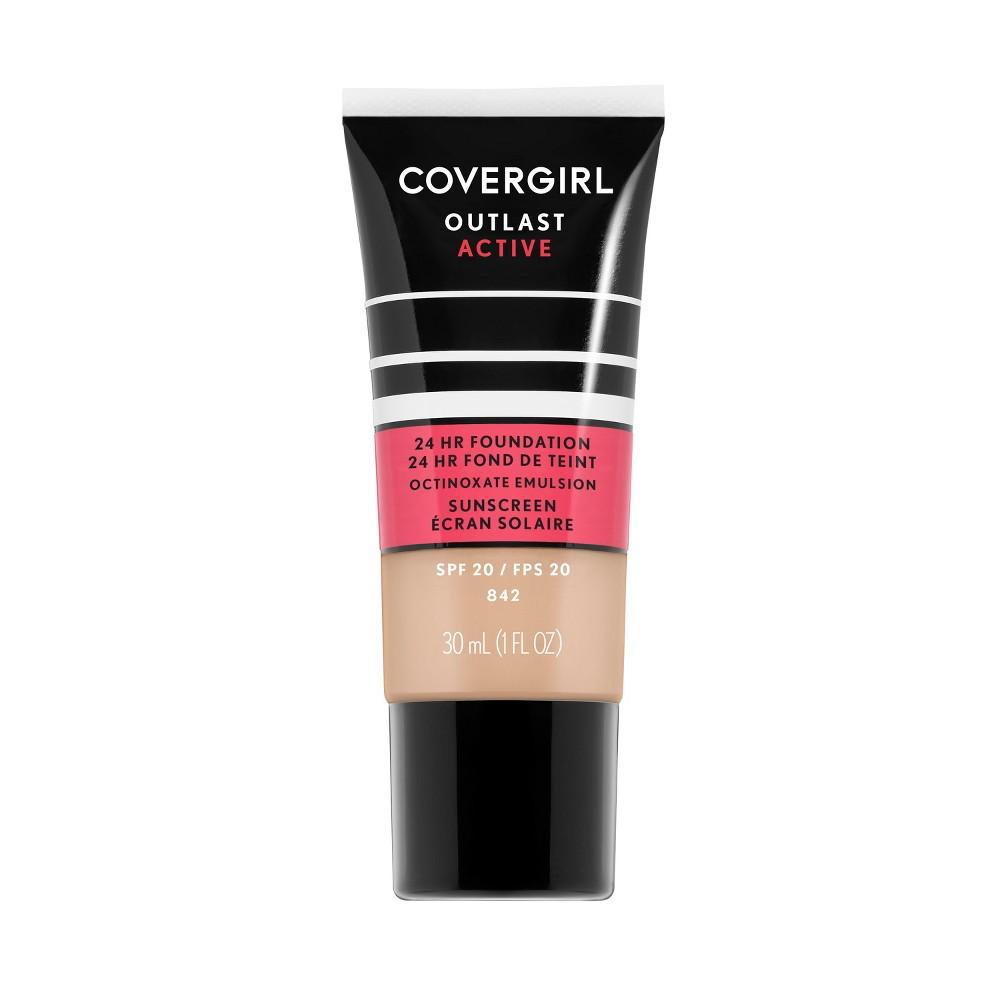 Covergirl Outlast Active Foundation 842 Medium Beige - 1 fl oz