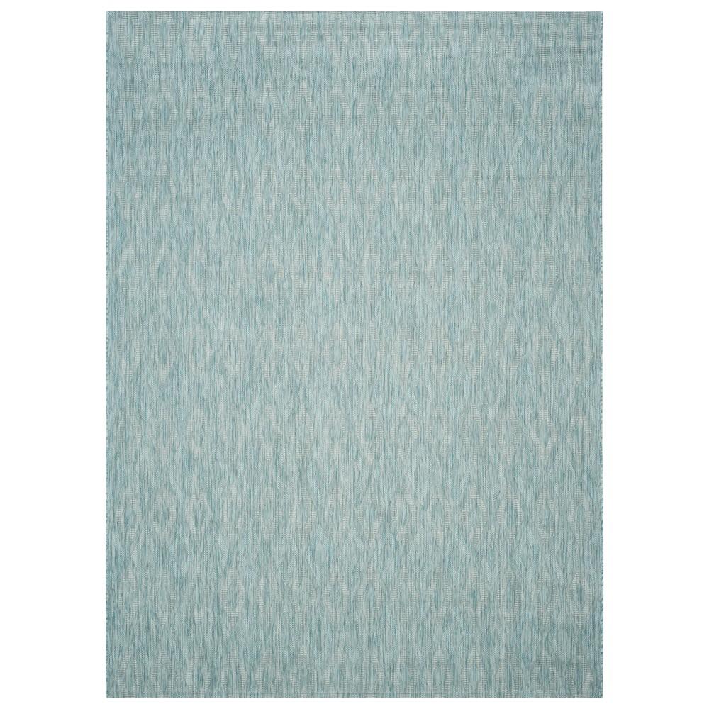 Bolton Rectangle 9' X 12' Outer Patio Rug - Aqua - Safavieh, Blue