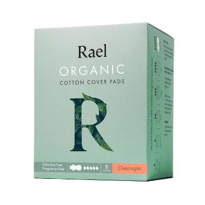 Rael Organic Cotton Overnight Menstrual Pads - Unscented - 8ct