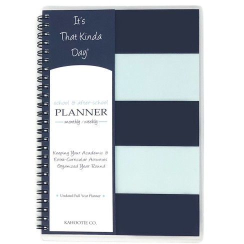 """Academic Planner 8.5""""x5.5"""" Teal Stripes- Kahootie Co - image 1 of 4"""