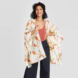 Women's Floral Kimono - A New Day™ Cream One Size Cream