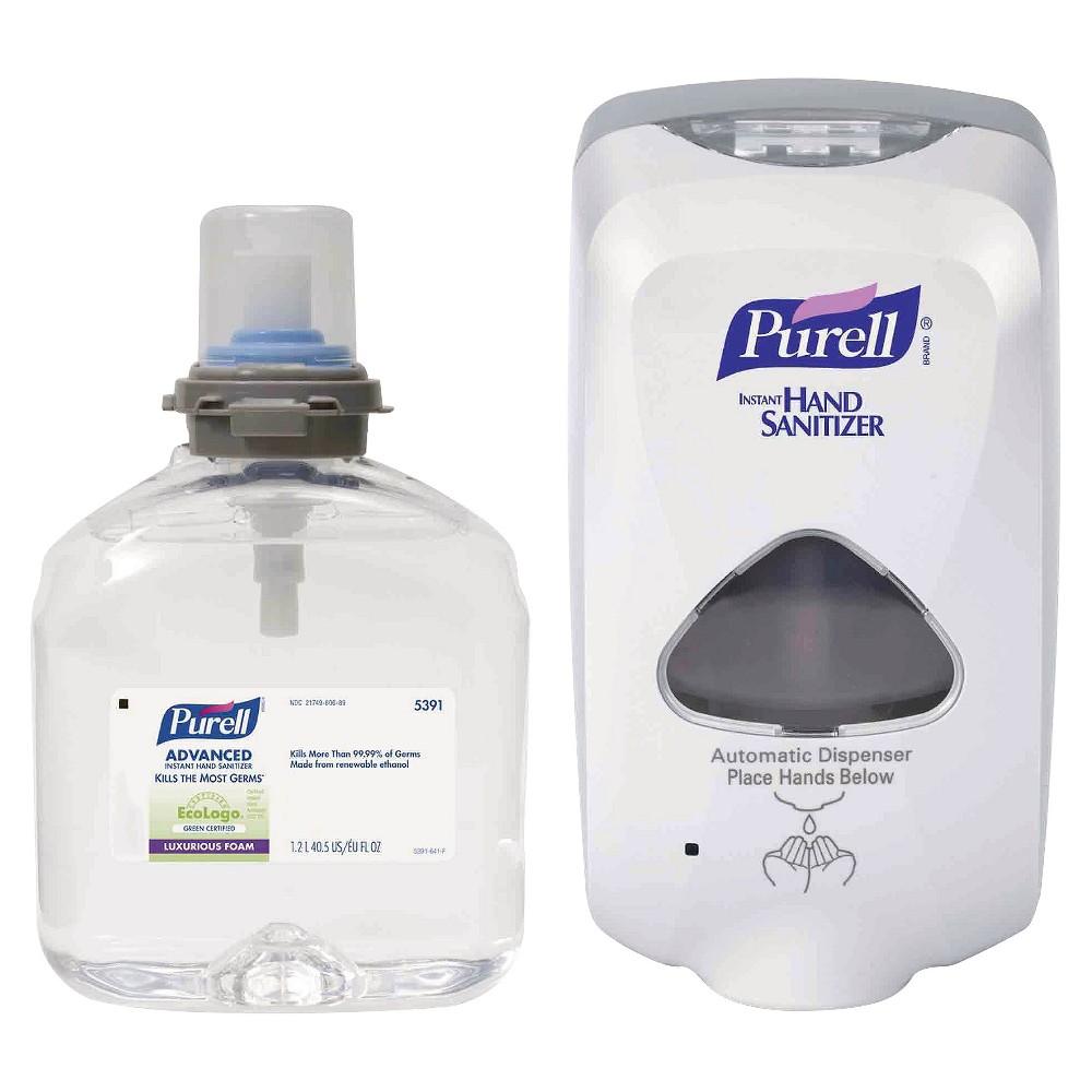 Image of Purell Advanced Instant Hand Sanitizer Foam - TFX Starter Kit (1 Dispenser & 1 Refill)