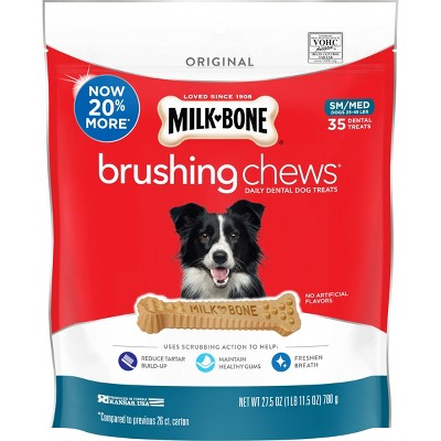 Milk-Bone Brushing Chicken Chews Extra Value Dog Treats - S/M - 27.5oz/4ct