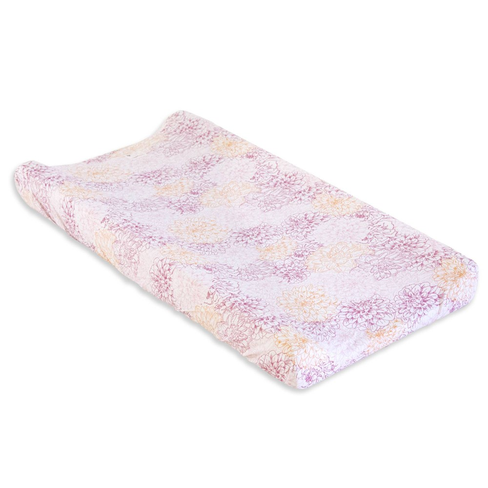 Image of Burt's Bees Baby Organic Changing Pad Cover - Peach Floral