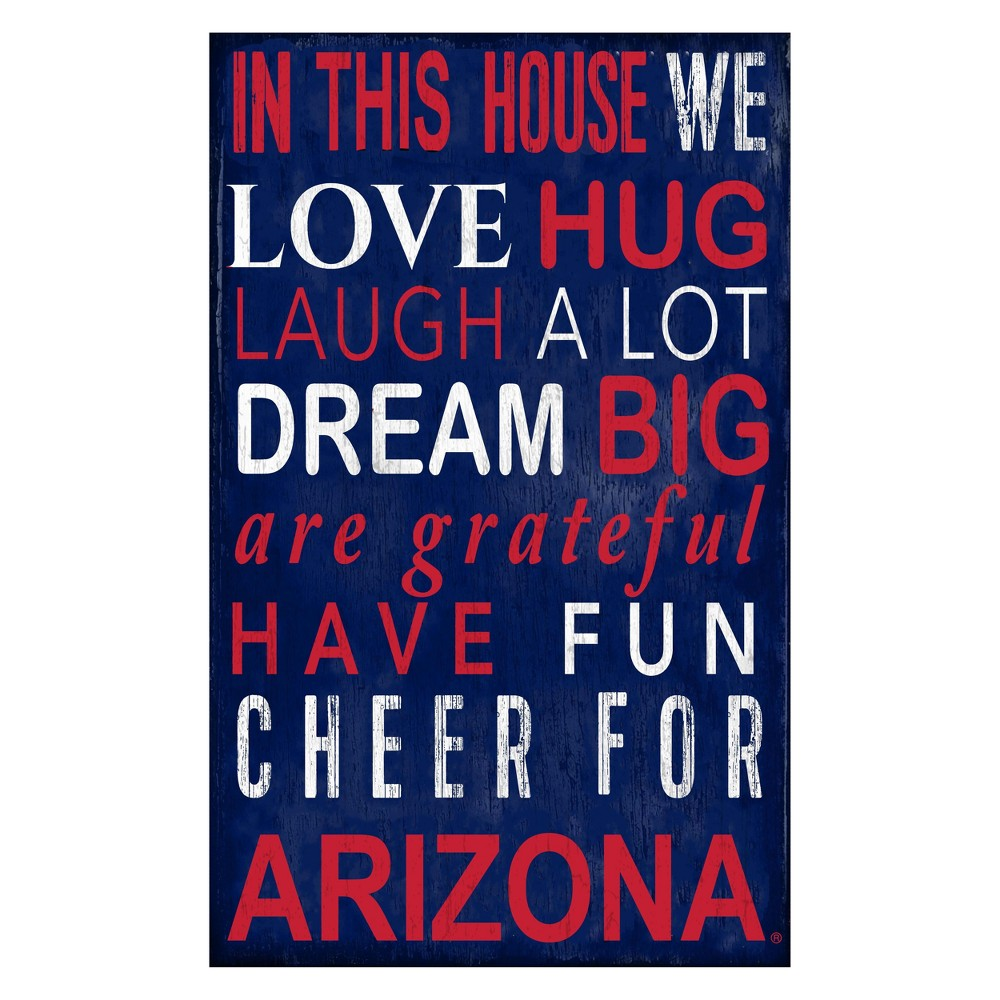 Arizona Wildcats In This House Sign