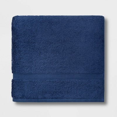 Soft Solid Bath Towel Navy Blue - Opalhouse™