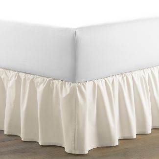Twin Solid Ruffled Bed Skirt Beige - Laura Ashley