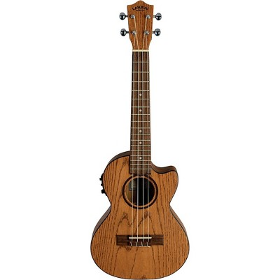 Lanikai Oak Acoustic-Electric Tenor Ukulele With Cutaway Natural