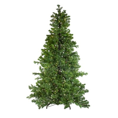 Northlight 7.5' Prelit Artificial Christmas Tree LED Layered Pine Instant Power - Dual Color Lights