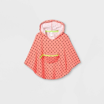 Toddler Girls' Watermelon Print Beach Poncho Cover Up - Cat & Jack™ Pink