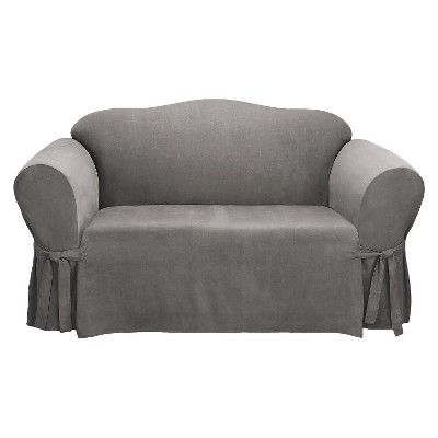 Soft Suede Loveseat Slipcover - Sure Fit