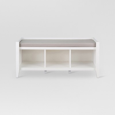 Open Storage Entryway Bench White - Threshold™
