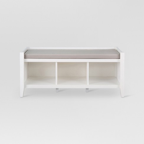 Open Storage Entryway Bench White - Threshold™ - image 1 of 4