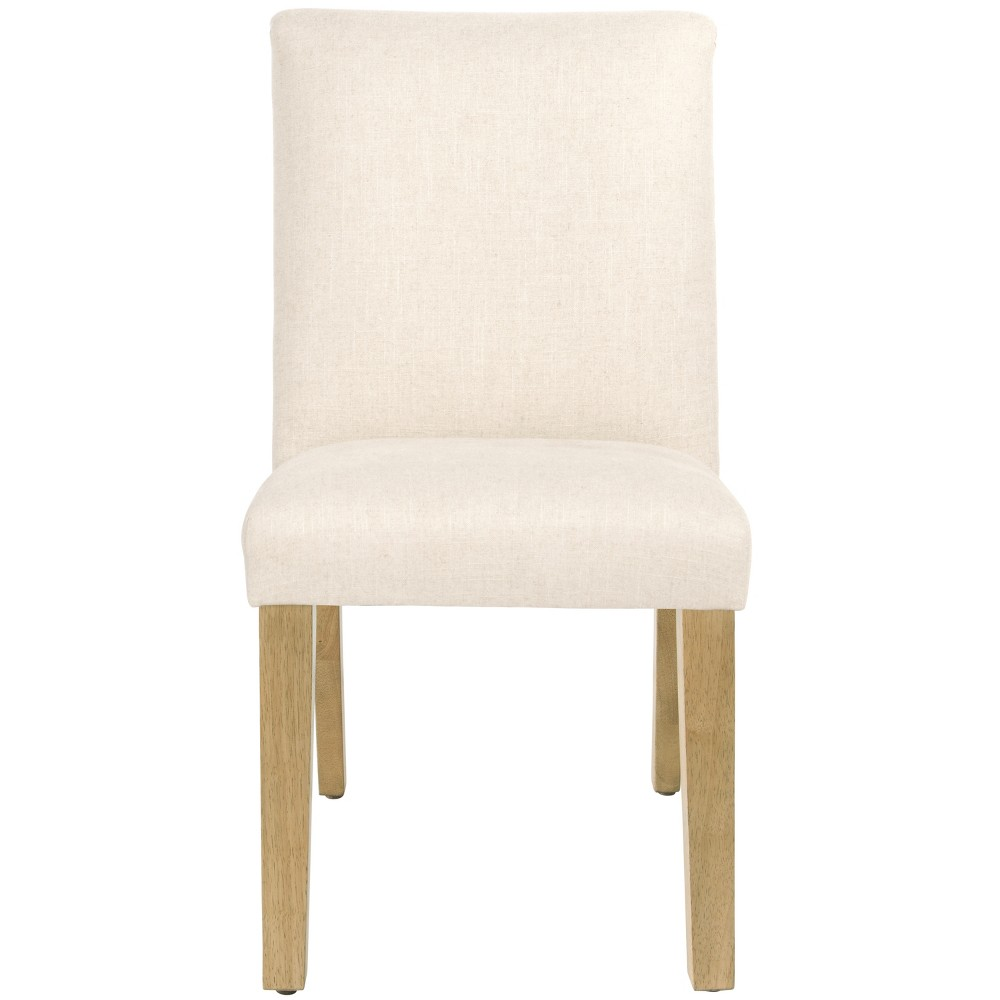 Parsons Dining Chair Linen Talc With Natural Legs Threshold 8482
