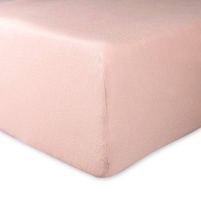 Honest Baby Organic Cotton Fitted Crib Sheet - Peach Skin