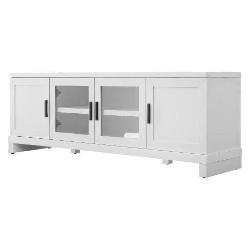 "65"" TV Stand With Storage White - Threshold™ - image 1 of 4"