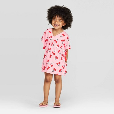 Baby Girls' Cherry Cover-Up Dress - Cat & Jack™ Pink 9M