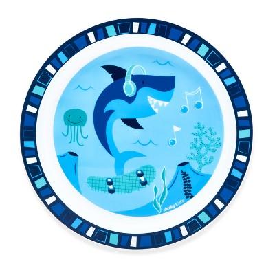 Cheeky Plastic Kids Plate 8.3  Shark - Blue