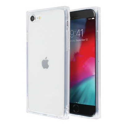 Insten Square Case For iPhone SE 2020 (2nd Gen), Reinforced Corners Crystal Clear Ultra-Thin Soft TPU Cover