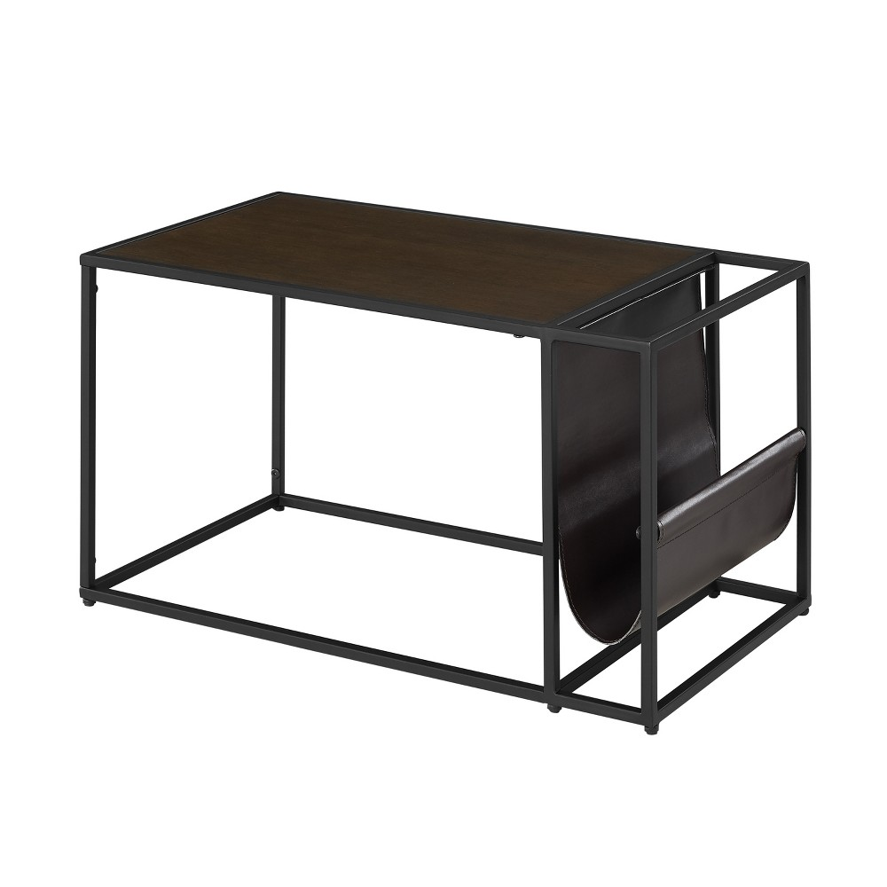 Hopewell Magazine Side Table Tobacco (Black) - Aiden Lane