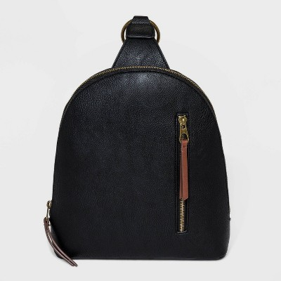 Zip Closure Sling Pack - Universal Thread™ Black