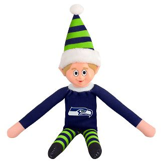 Forever Collectibles Seattle Seahawks Holiday Elf
