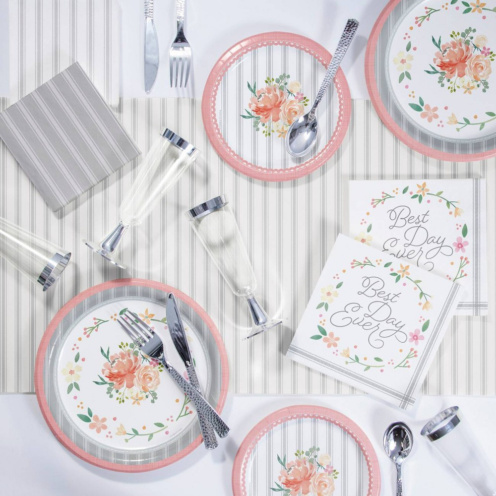 Image of Country Floral Deluxe Party Supplies Kit