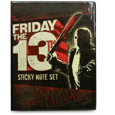 Silver Buffalo Friday the 13th Sticky Note and Sticky Tab Box Set