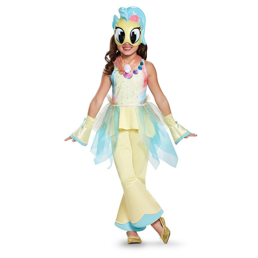 Image of Halloween Girls My Little Pony Princess Skystar Deluxe Costume S(4-6x), Girl's, Size: Small, Yellow