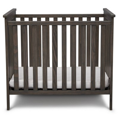 Simmons Kids' Monterey Mini Crib with Mattress, Greenguard Gold Certified