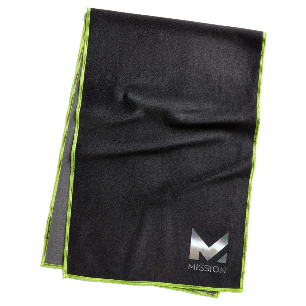Mission HydroActive Max Large Towel - Black