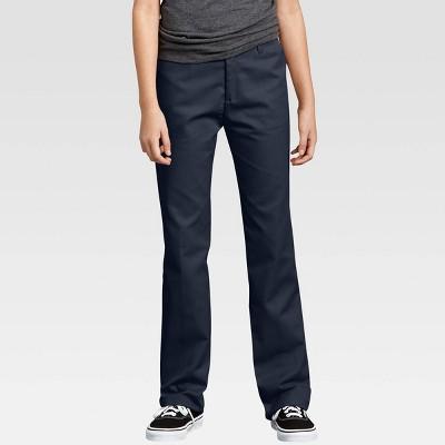 Dickies® Little Girls' Flex Slim Fit Straight Leg Flat Front Pants