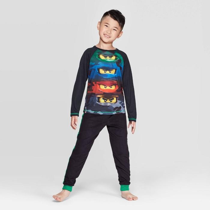 Boys' LEGO Ninjago 2pc Pajama Set - Black - image 1 of 3