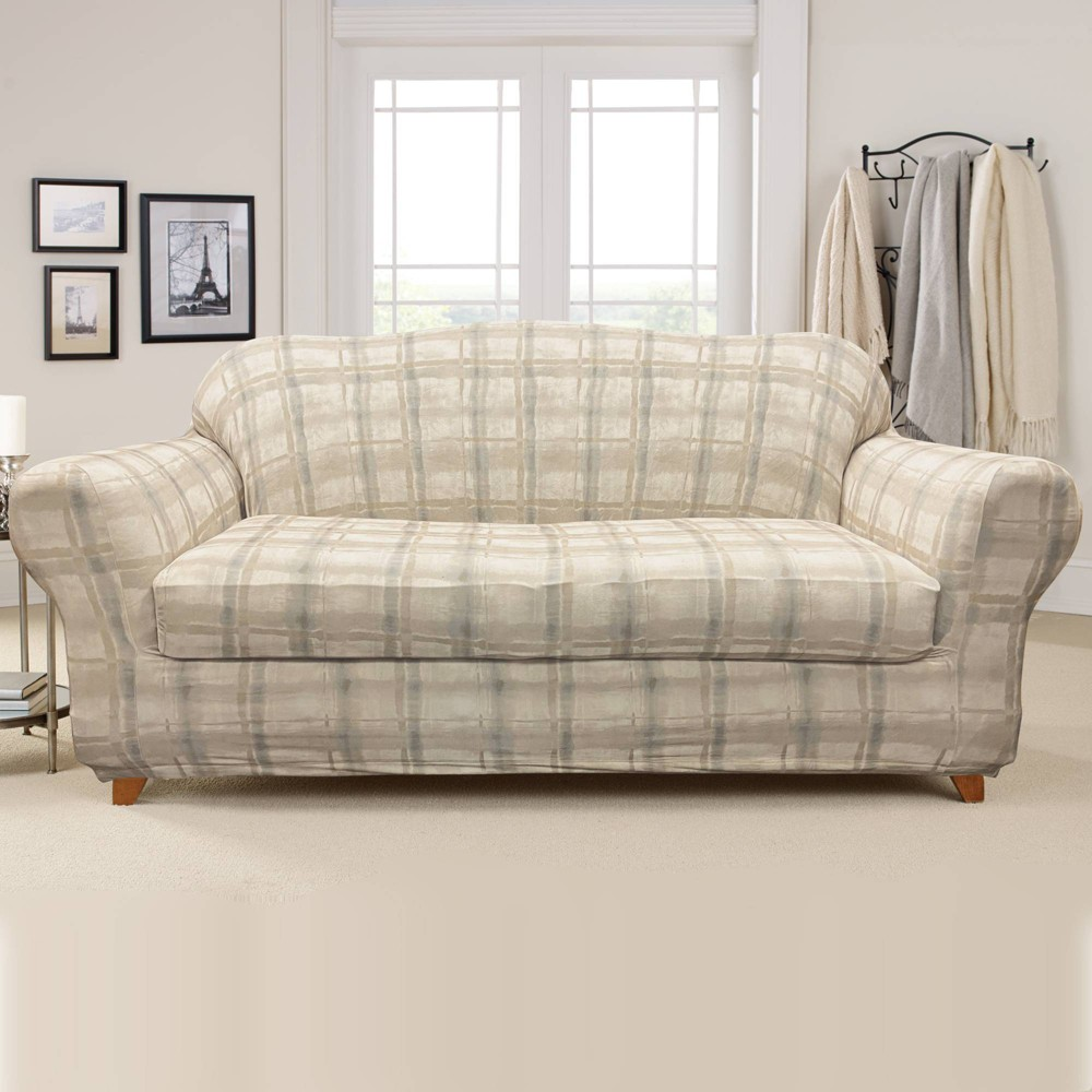 2pc Stretch Arno Sofa Slipcovers Sure Fit