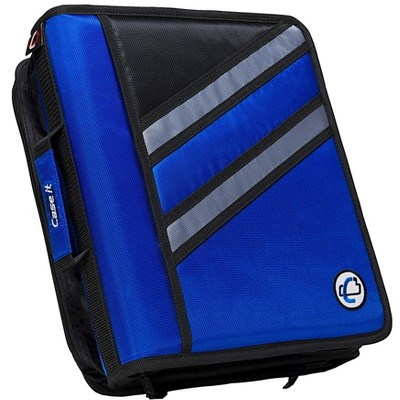 Case-it Z-Design Zippered Binder with Tab File, D-Ring, 1-1/2 Inches, Blue