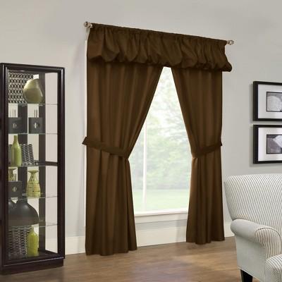 Thermalogic Prescott Energy Efficient 5 Piece Window Curtain Set Chocolate
