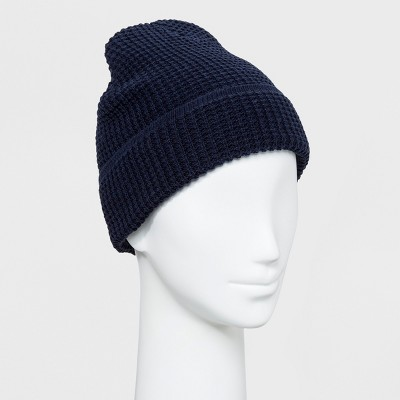 bc5c983691b2c4 Men's Waffle Knit Fisherman Cuff Beanie - Goodfellow & Co™ Navy One Size