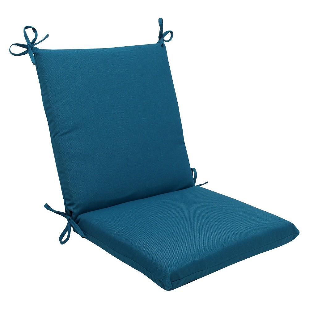 Sunbrella Spectrum Outdoor Squared Edge Chair Cushion - Blue