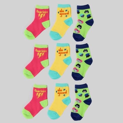 9pk Girls Socks - Bullseye's Playground™ - image 1 of 1