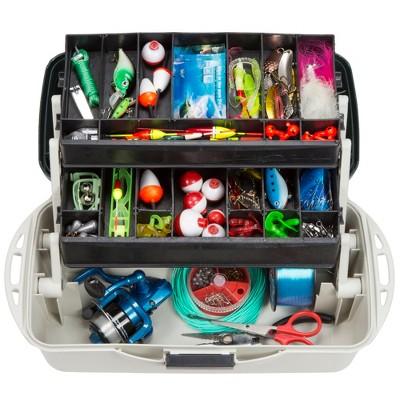 Wakeman Fishing 2 Tray Tackle Box Organizer - 14 inch