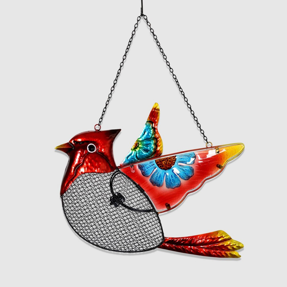18 Resin Pellet Bird Feeder Cardinal Basket - Exhart, Multi-Colored