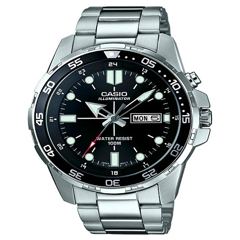 Casio Men's Performance Stainless Steel Wristwatch - Silver - image 1 of 1