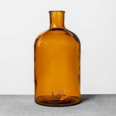 1.4L Long Neck Bottle Amber - Hearth & Hand™ with Magnolia
