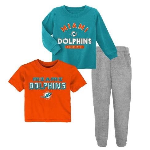 info for 2c231 48ce9 NFL Miami Dolphins Toddler Boys' Gametime Fun Shirt & Pants Set 3pk - 18M