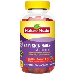 Nature Made Hair/Skin/Nails Dietary Supplement Adult Gummies - Fruit - 150ct