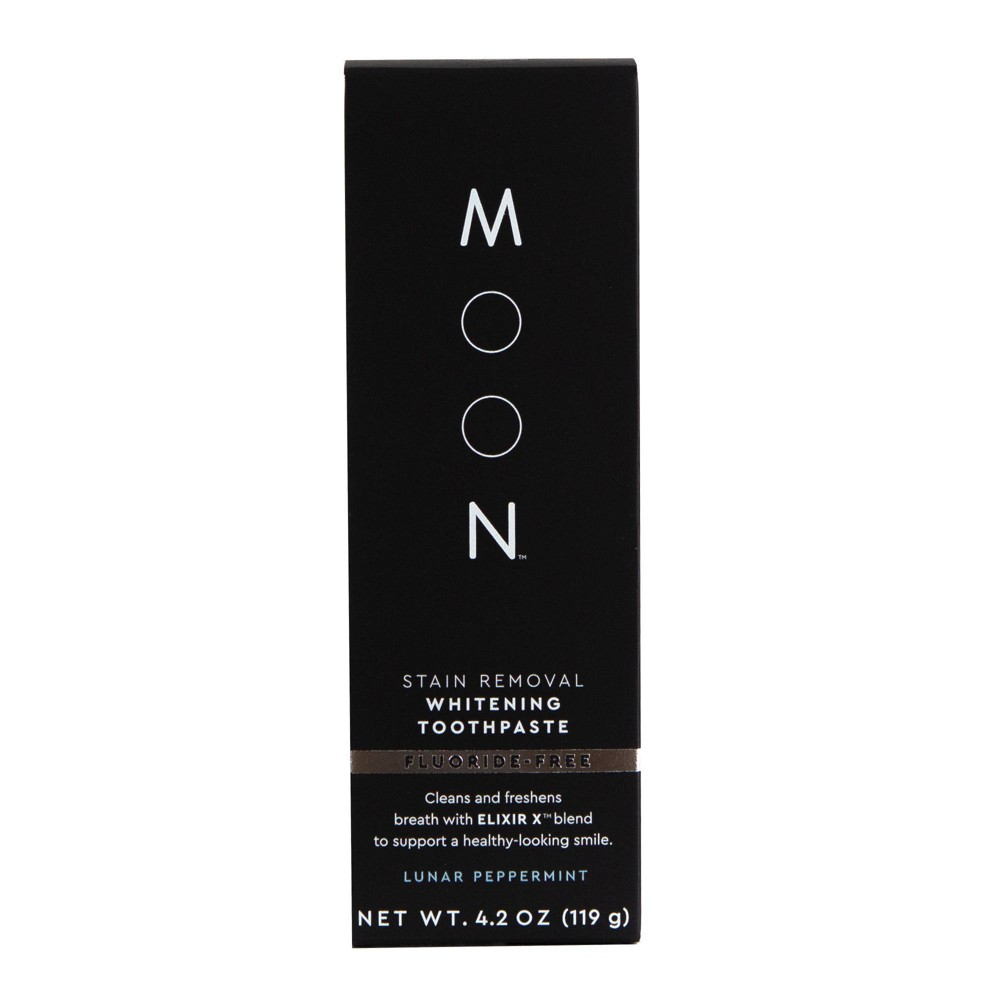 Image of Moon Stain Removal Fluoride-Free Whitening Lunar Peppermint Toothpaste - 4.2oz