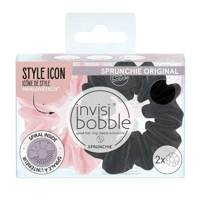 invisibobble Sprunchie Multipack Hair Elastics - True Black & Prima Ballerina - 2ct