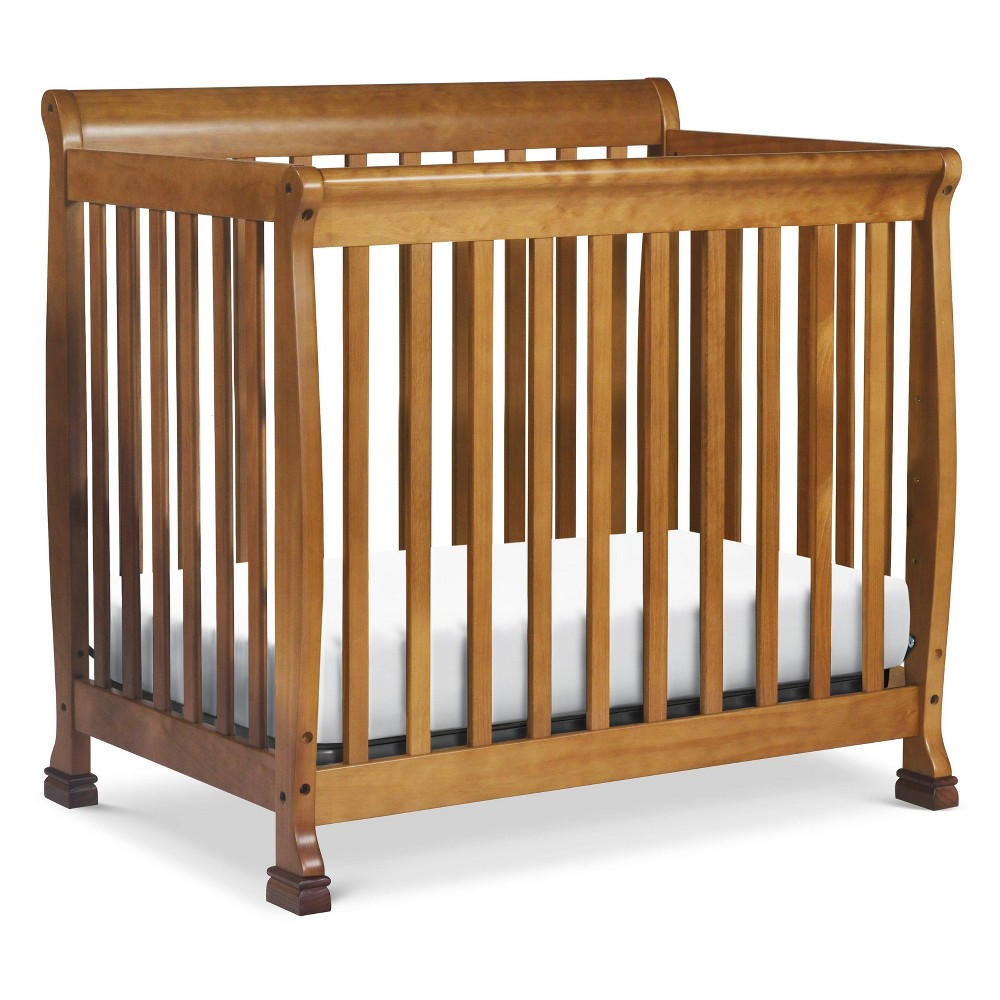 Image of DaVinci Kalani 4-in-1 Convertible Mini Crib and Twin Bed - Chestnut, Brown