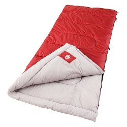Coleman Palmetto 30 Degrees Fahrenheit Cool Weather Sleeping Bag - Red