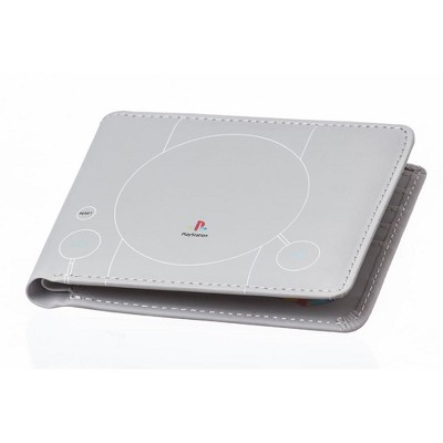 Rubber Road PlayStation PS1 Console Men's Bi-Fold Wallet Grey